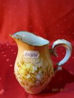 Antik Cseh porcelán tejkiöntő, 2440-es nyomattal.