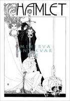 Shakespeare Hamlet illusztráció reprint nyomat J. A. Austen 1922 koponya kard halál maszk álarc