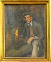 Aukcionált Kunffy Lajos: Munkás