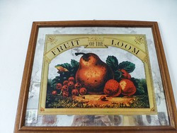Retro,vintage tükörre festett reklám tábla Fruit of the Loom