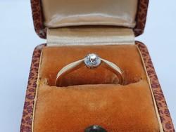 Antik Arany Gyémánt Gyűrű.  Eljegyzési