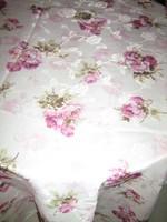 Meseszép elegáns vintage rózsás selyem terítő futó asztalközép