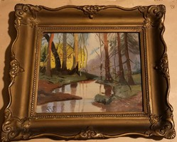 Gödöllői festő :Erdei  patak