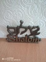 Meseszép Shalom feliratú szalvéta tartó az 1960-as évekből