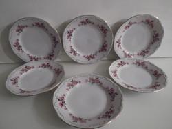 Porcelán - 6 db - ZSOLNAY - sütis tányér 19 cm - hibátlan