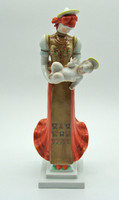 M25 Herendi nagyméretű 36 cm-es Matyó Madonna - meseszép gyűjtői darab