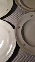 Zsolnay barokk ritkább  virágos tányér 4 darab. Mely
