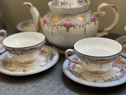 Gyönyörű, sérülésmentes állapotban lévő porcelán teás- és kávéskészlet - NMÁ