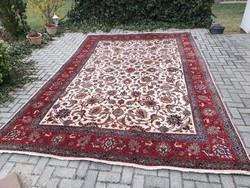 Szignós antik iráni tabriz 252x373 kézi csomózású gyapjú perzsa szőnyeg MM_719