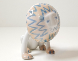 Nagyon ritka! :) aquincumi oroszlán porcelán figura!