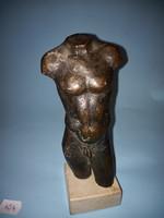 Antik bronz férfi torzó szobor