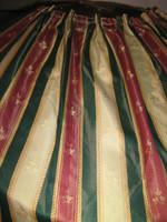 Álomszép vintage stílusú luxus selyembrokát sötétítő függöny