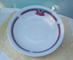 Alföldi Art deco fehér porcelán mély tányér