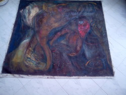 BAKÁNYI GYULA FESTMÉNY 130 x 150 cm