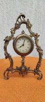 Asztali réz óra, barokkos,rokokó díszes stílusban