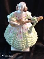 Herendi, 36 cm magas, Deryné porcelán szobor