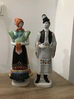 Hollóházi porcelán matyó pár
