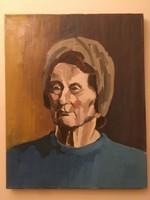 Női portré ismeretlen művésztől .