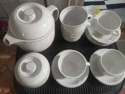 Retro Alföldi porcelán: Saturnus teás keszlet