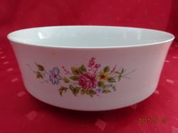 Alföldi porcelán, tavaszi virágmintás kis köretes tál, átmérője 18 cm.