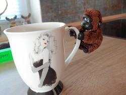 1 db Moncsicsi, monchichi típusú ritka gorilla, csiptethető, jobb keze üreges