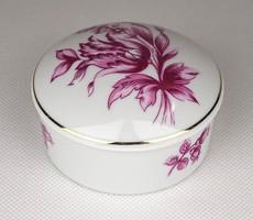 1E237 Virág mintás Hollóházi porcelán bonbonier