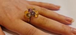 Mutatós 9k arany gyűrű 3,65 gramm