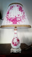Herendi purpur Indiai-kosár mintás porcelán lámpa