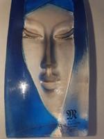 Mats Jonasson eredeti faragott kékszínezett ólomkristály szobor eladó!