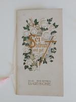 Antik szecessziós dombornyomott üdvözlőkártya
