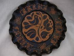 Máthé Lukács Korond barna madaras fali tányér