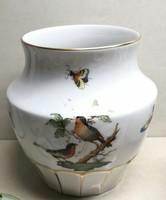 Gyönyörű Herendi Rothschild madaras mintájú váza hibátlan állapotban