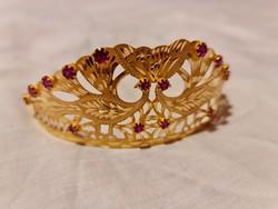 14K arany tiara/korona
