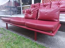 Mid-century műbőr kanapé