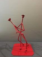 45-cm es ART DECO  Ferrari piros táncoló pár!