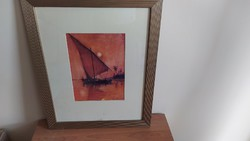 Nívós festmény (Bradford?) hajó it