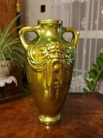 Zsolnay eozin gyönyörű Poseidon váza!