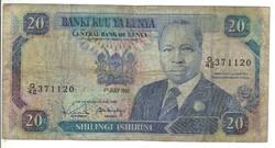 20 shilingi 1990 Kenya