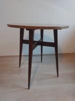 Mid-century kerekasztal dohányzóasztal asztalka