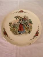 Nagyméretű, OBERNAI kézzel festett tányér