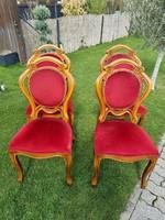 1945 ben nkészült antik barok 4 darab szék