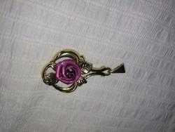 Vintage aranyozott rózsa medál gold tone vintage pendant
