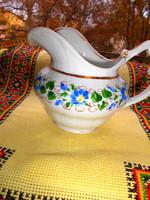 Biedermeier kiöntő   kézzel festett porcelán kancsó