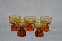 5 db régi likőrös pohár