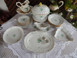 Herendi porcelán  virágos étkészlet