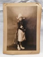 Holland gyermek fa papucsban , régi fotó képeslap