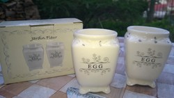 Reggeliző szett-tojástartó angol porcelán