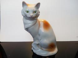 Drasche porcelán cica /macska  nagyobb méretű