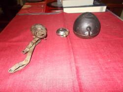 Veterán kerékpárra való csengő és Bosch lámpa,kisebb csengővel