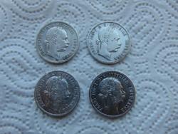 Ferenc József ezüst 1 florin 4 darab LOT ! 02